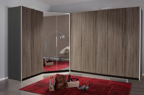 neu eck kleiderschrank montana eiche eckkleiderschrank schlafzimmer eckschrank ebay. Black Bedroom Furniture Sets. Home Design Ideas