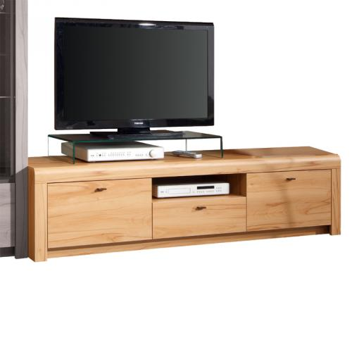 neu 186cm tv kommode kernbuche wohnzimmer unterschrank fernsehschrank lowboard. Black Bedroom Furniture Sets. Home Design Ideas