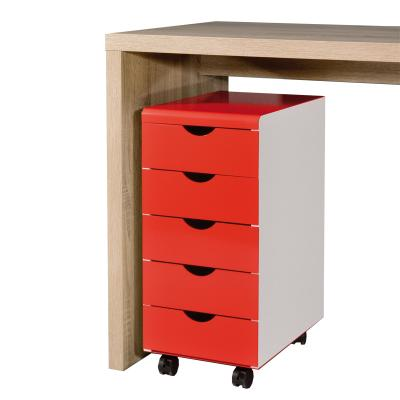 top rollcontainer weiss rot lackiert b rom bel. Black Bedroom Furniture Sets. Home Design Ideas