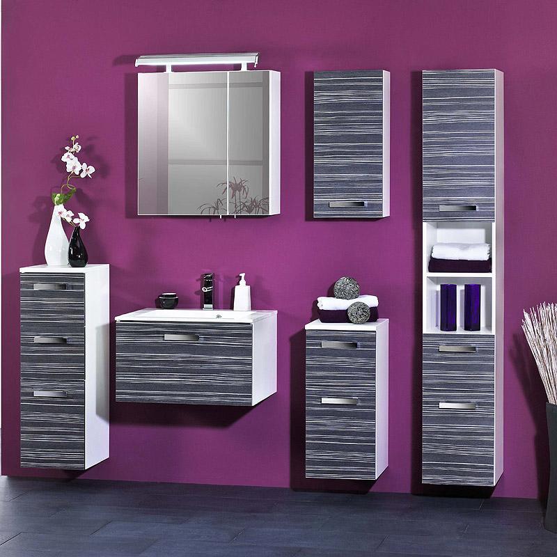 Badezimmerm bel hochschrank anthrazit highboard badm bel bad badschrank schrank ebay - Badezimmermobel ebay ...