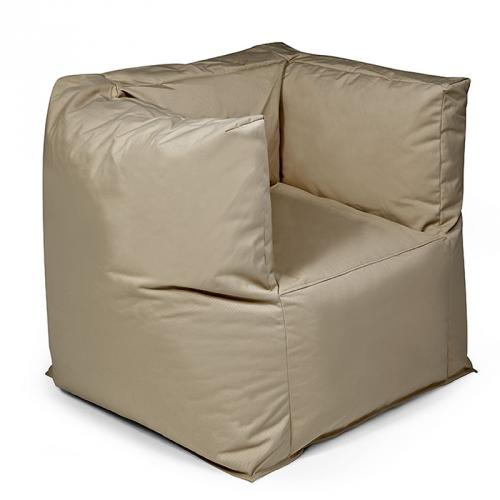 neu premium sitzsack outbag graubeige outdoor garten lounge sessel sitzkissen ebay. Black Bedroom Furniture Sets. Home Design Ideas
