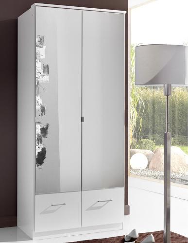 90cm kleiderschrank wei schlafzimmerschrank flurschrank schrank spiegelschrank ebay. Black Bedroom Furniture Sets. Home Design Ideas