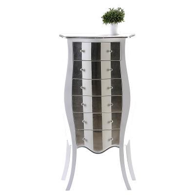 wow stylischer telefontisch wei silber anrichte highboard konsole flur kommode ebay. Black Bedroom Furniture Sets. Home Design Ideas