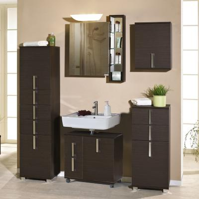 neu badezimmer komplett set 6 tlg bad badm bel esche braun waschplatz waschtisch ebay. Black Bedroom Furniture Sets. Home Design Ideas