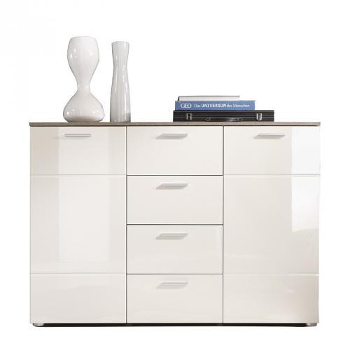Ikea Variera Pull Out Container ~ Kommode Hochglanz magnolie Eiche Trffel Anrichte Schrank Wohnzimmer