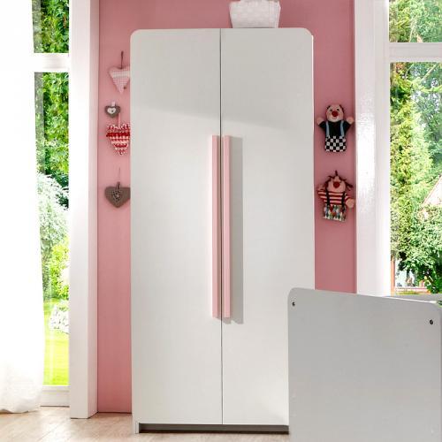 kleiderschrank alpinwei ros 90cm baby m dchen babyzimmer. Black Bedroom Furniture Sets. Home Design Ideas