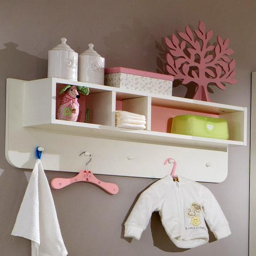 Hängeregal weiß haken  NEU* Babyzimmer Wandboard in weiß - rosa Regal Hängeregal ...