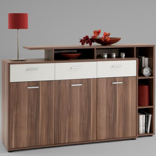 sideboard zwetschge nachbildung wei kommode anrichte wohnzimmer esszimmer ebay. Black Bedroom Furniture Sets. Home Design Ideas