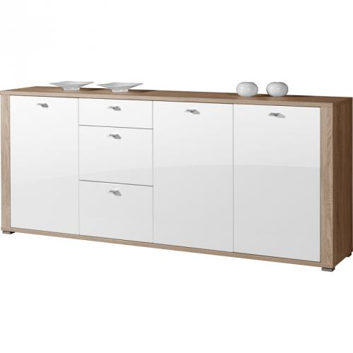 sideboard eiche sonoma weis die neuesten innenarchitekturideen. Black Bedroom Furniture Sets. Home Design Ideas