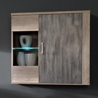 neu h ngevitrine in wildeiche tr ffel metallic. Black Bedroom Furniture Sets. Home Design Ideas