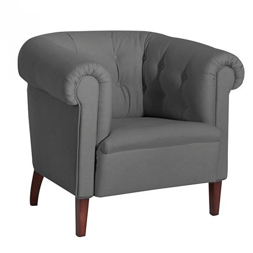 Clubsessel grau  NEU Design Cocktailsessel Clubsessel grau Loungesessel Chesterfield ...