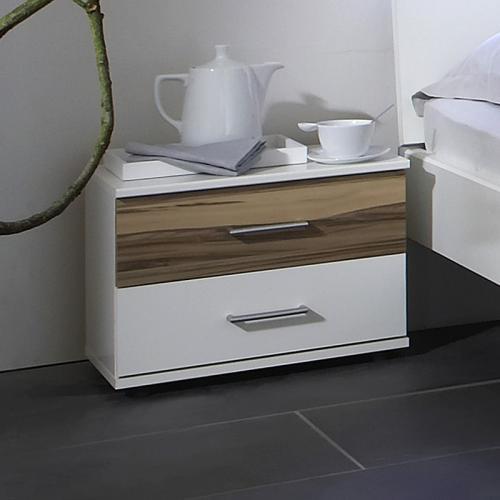 nachtschrank 2er set wei baltimore walnut nachttisch nachtkommode schlafzimmer ebay. Black Bedroom Furniture Sets. Home Design Ideas