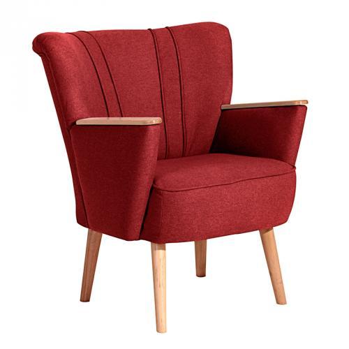 wow edler cocktailsessel rot retrosessel clubsessel. Black Bedroom Furniture Sets. Home Design Ideas
