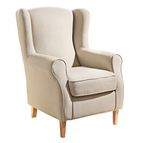 neu traumhafter sessel ohrensessel beige polstersessel fernsehsessel relaxsessel ebay. Black Bedroom Furniture Sets. Home Design Ideas