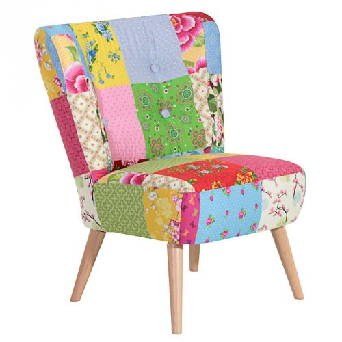 design clubsessel patchwork retro loungesessel sessel. Black Bedroom Furniture Sets. Home Design Ideas