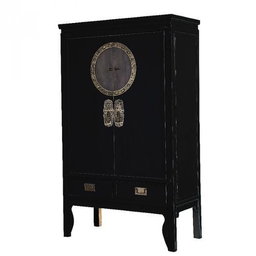 neu design asia highboard lack schwarz anrichte. Black Bedroom Furniture Sets. Home Design Ideas