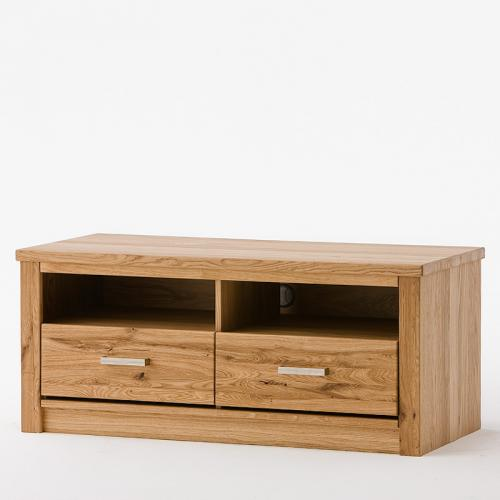 top 120cm lowboard asteiche massiv wohnzimmer tv schrank fernsehtisch sideboard ebay. Black Bedroom Furniture Sets. Home Design Ideas