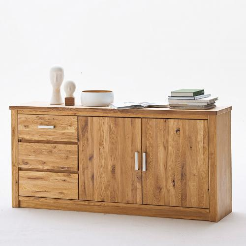 sideboard asteiche massiv eiche furniert kommode anrichte wohnzimmer schrank ebay. Black Bedroom Furniture Sets. Home Design Ideas