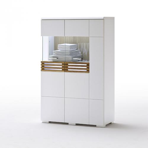 wow highboard lack wei matt led kommode sideboard. Black Bedroom Furniture Sets. Home Design Ideas