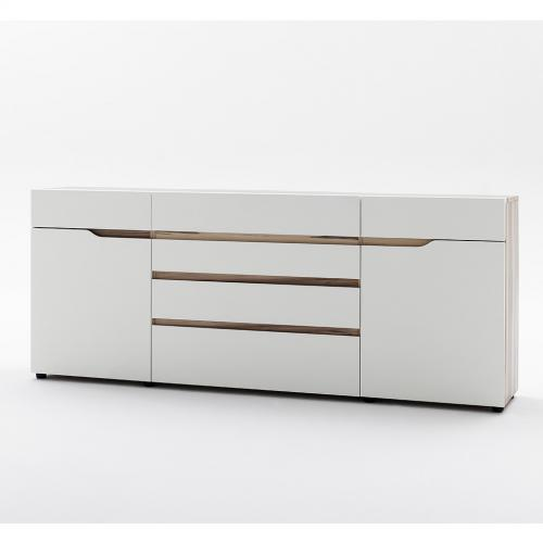 wow 216cm sideboard matt wei nussbaum kommode. Black Bedroom Furniture Sets. Home Design Ideas