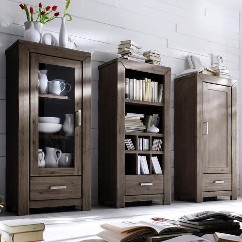 wow hochschrank vitrinen set akazie highboard. Black Bedroom Furniture Sets. Home Design Ideas