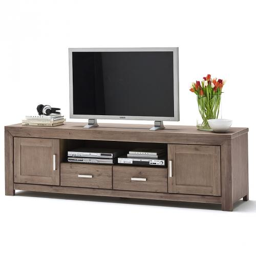lowboard akazie sand teilmassiv wohnzimmer tv kommode tv tisch sideboard ebay. Black Bedroom Furniture Sets. Home Design Ideas
