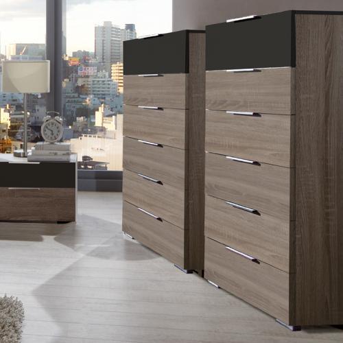 neu 2er set kommoden montana eiche lava schubkastenkommode sideboard anrichte ebay. Black Bedroom Furniture Sets. Home Design Ideas