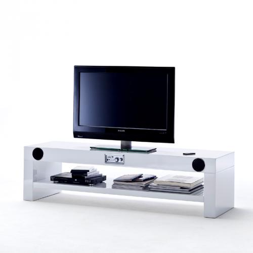wow lowboard lack wei usb sd lautsprecher subwoofer tv hifi rack fernsehschrank ebay. Black Bedroom Furniture Sets. Home Design Ideas