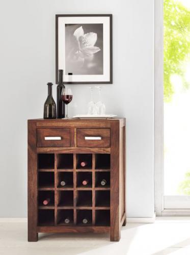 wow weinkommode shesham massiv gewachst weinschrank kommode weinregal sideboard ebay. Black Bedroom Furniture Sets. Home Design Ideas
