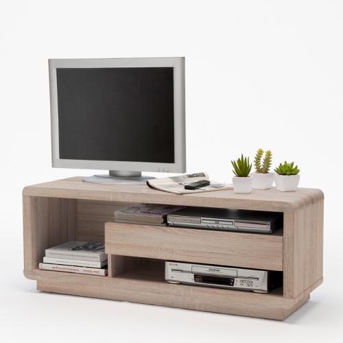 120cm lowboard in eiche s gerau fernsehtisch tv kommode hifi rack fernsehschrank ebay. Black Bedroom Furniture Sets. Home Design Ideas