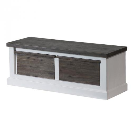 neu landhaus flur kommode massiv wei braun lowboard. Black Bedroom Furniture Sets. Home Design Ideas