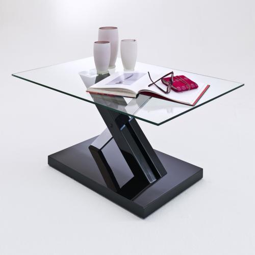 neu couchtisch hochglanz schwarz chrom wohnzimmer tisch beistelltisch glastisch ebay. Black Bedroom Furniture Sets. Home Design Ideas