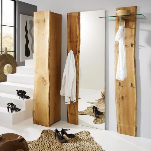 neu design garderobenset eiche massiv garderobe flurm bel spiegel kleiderschrank ebay. Black Bedroom Furniture Sets. Home Design Ideas