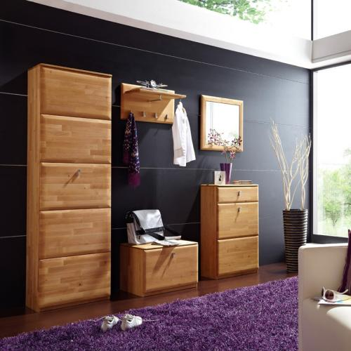 neu komplett garderobenset erle massiv flurm bel garderobe spiegel schuhschrank ebay. Black Bedroom Furniture Sets. Home Design Ideas
