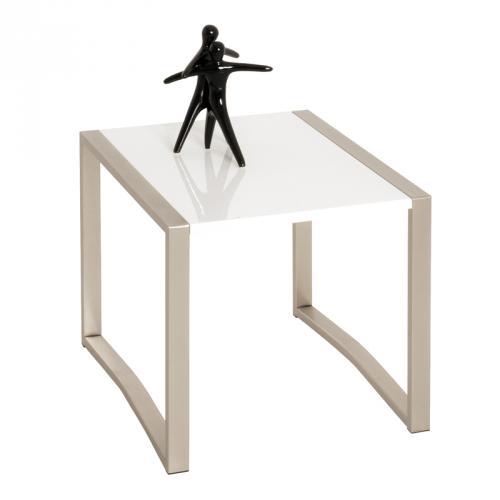 beistelltisch hochglanz wei edelstahl finish telefontisch. Black Bedroom Furniture Sets. Home Design Ideas