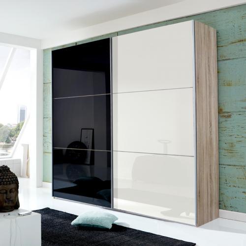 kleiderschrank schwarz weiss angebote auf waterige. Black Bedroom Furniture Sets. Home Design Ideas