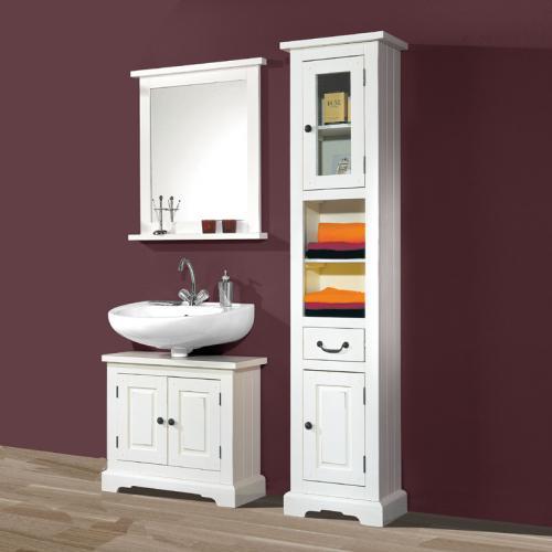 badezimmermobel weis antik, neu 3-tlg badmöbel set pinie massiv antik weiß badezimmermöbel, Design ideen