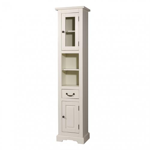 neu badezimmer hochschrank pinie massiv in wei antik badm bel badezimmerschrank ebay. Black Bedroom Furniture Sets. Home Design Ideas