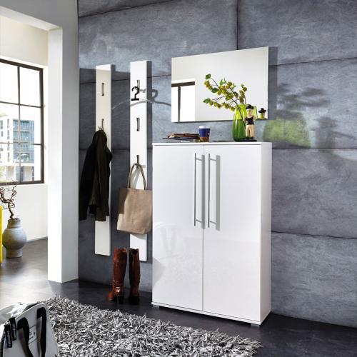 Wow garderobe hochglanz wei garderoben m bel set for Garderoben sets hochglanz