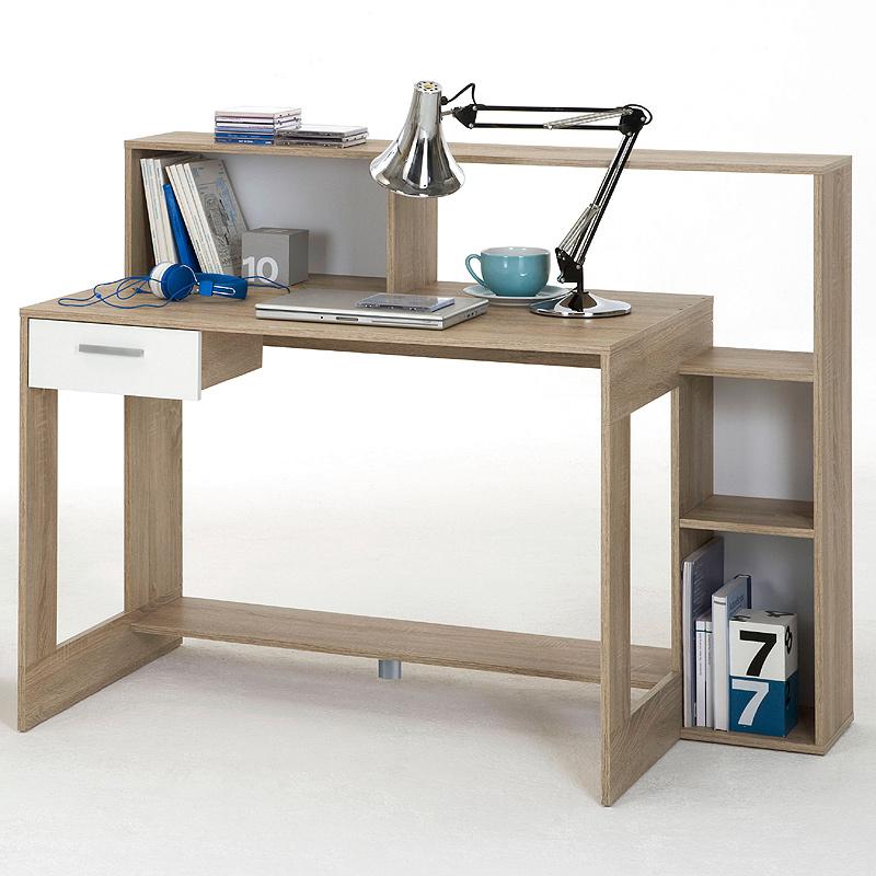 Schreibtisch eiche nb wei b rom bel tisch b ro - Kinderzimmermobel ebay ...