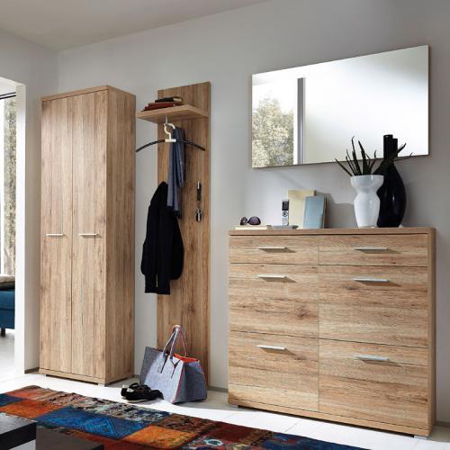 komplett garderobe in sanremo eiche garderoben m bel. Black Bedroom Furniture Sets. Home Design Ideas