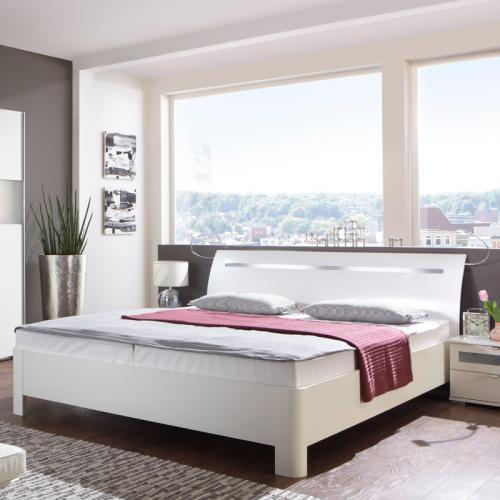 futonbett 180 x 200cm weiß - milchglas schlafzimmer bett ... - Schlafzimmer Bett Weis