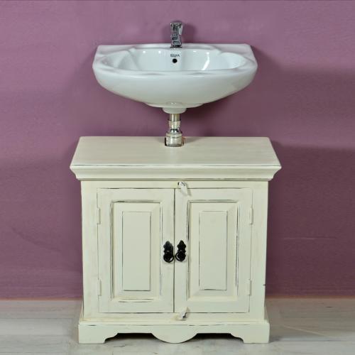 badezimmer waschbeckenschrank antik wei schrank badezimmerschrank bad badm bel ebay. Black Bedroom Furniture Sets. Home Design Ideas