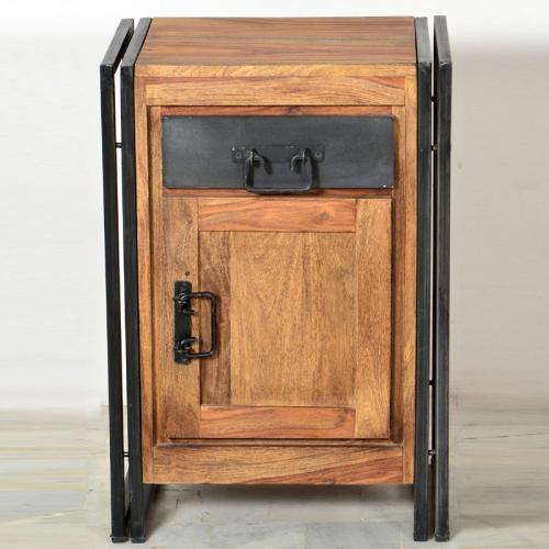 top badezimmer unterschrank shesham holz altmetall schrank. Black Bedroom Furniture Sets. Home Design Ideas