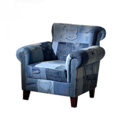 ... NEU Design UNIKAT Lounge Sessel Jeans Amp Akazie