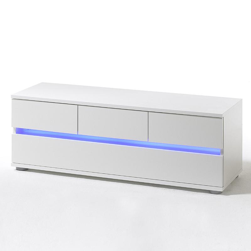 modernes tv lowboard wei led fernsehschrank kommode sideboard tisch hifi rack ebay. Black Bedroom Furniture Sets. Home Design Ideas