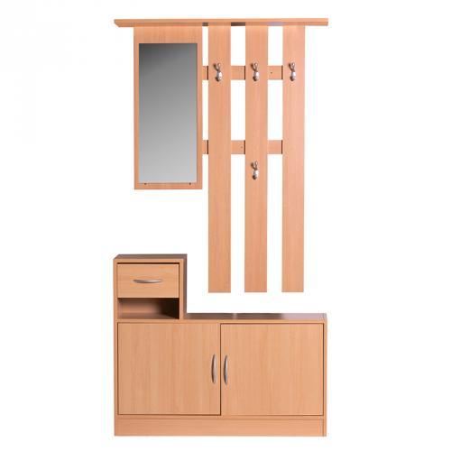 garderobenpaneel buche nachbildung bestseller shop f r m bel und einrichtungen. Black Bedroom Furniture Sets. Home Design Ideas