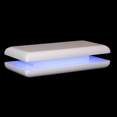 Wow Design Led Couchtisch Glasfaser Hochglanz WeiAY Wohnzimmertisch