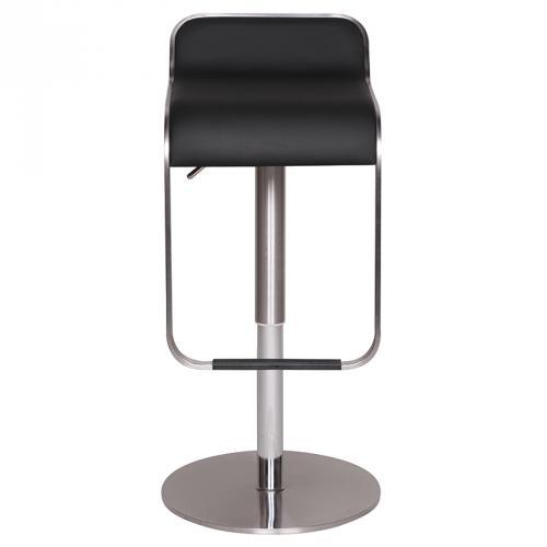 neu barstuhl kunstleder schwarz edelstahl geb rstet. Black Bedroom Furniture Sets. Home Design Ideas