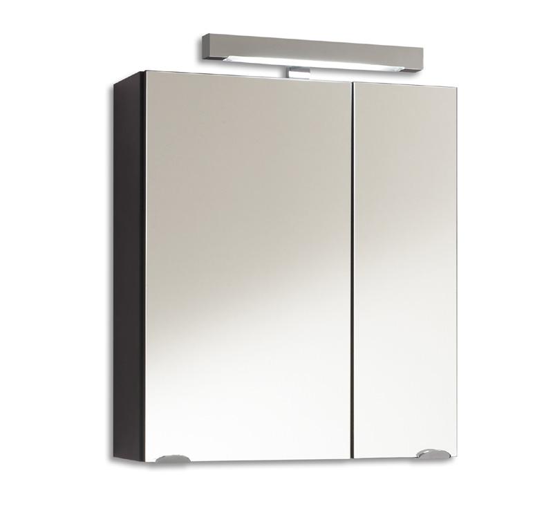 badezimmer spiegelschrank 60cm anthrazit badm bel spiegel badezimmerspiegel ebay. Black Bedroom Furniture Sets. Home Design Ideas